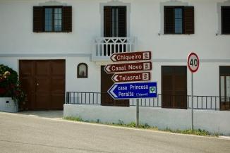 Schist village sign-posts