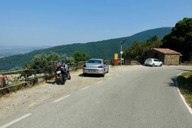 Parking above the village