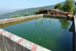 Water tank above the village