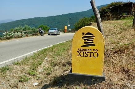 Entering a schist village