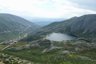Reservoir above the valley