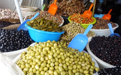 Olives and dried figs