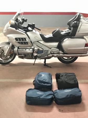 Luggage and bike