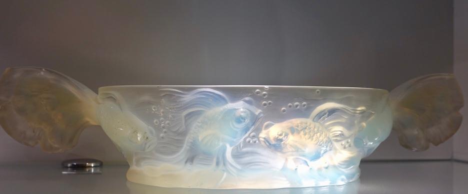 Crystal goldfish vase