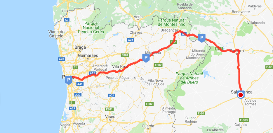 Our riding route to Salamanca