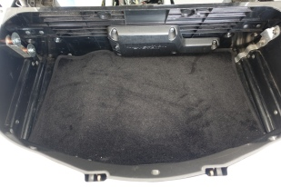 Carpet installed in trunk