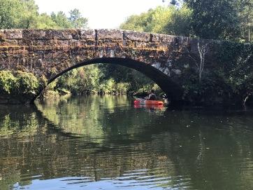 Going under a Roman bridge