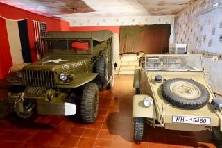 Dodge WC52 weapons carrier and 1944 Volkswagen Kubelwagen