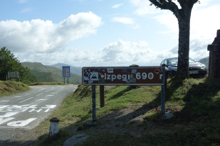 Sign on reaching the pass