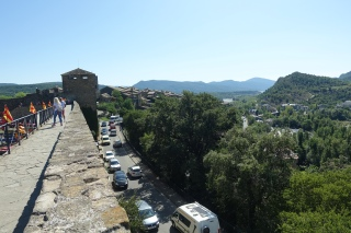 View of traffic from the castle wall