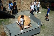 Child with a 263kg pumpkin