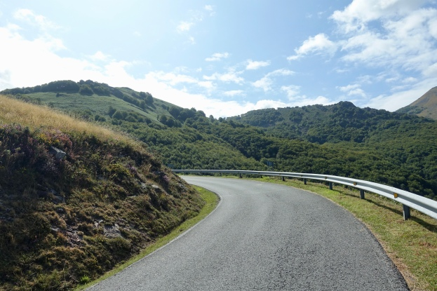 Mountain road heading up to the pass