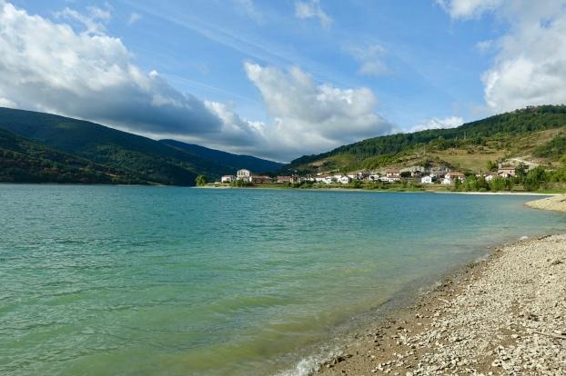 Eugi from across the lake