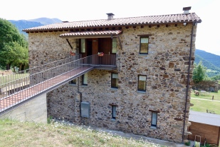 Rear of the house with ramp to apartment