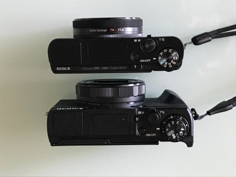 Side by side Canon and Sony