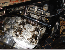 Valve cover off to check valve clearances
