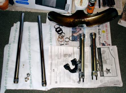 Forks disassembled