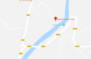 Map showing location of bridge