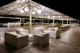 Hotel outdoor terrace