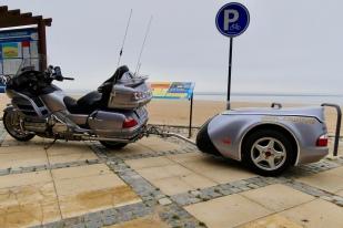 Antonio's bike and trailer