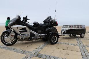 Licinio's trike and VW camper trailer