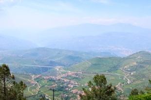 Hazy view - Douro River in distance