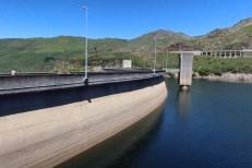 Reservoir side of the dam