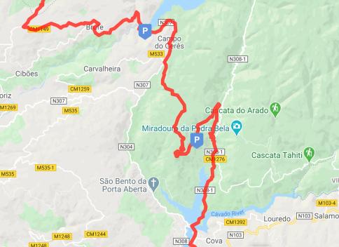 Route entering Peneda-Geres National Park