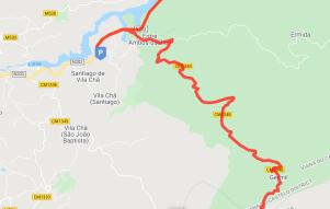 Route through Germil to Restaurante Lobo